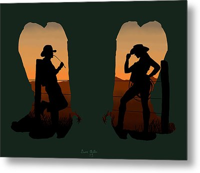The Cowboy Way 2.. Nice Boots Metal Print by Brien Miller