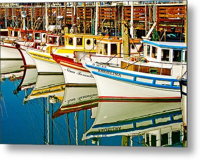 The Crab Fleet Metal Print by Bill Gallagher