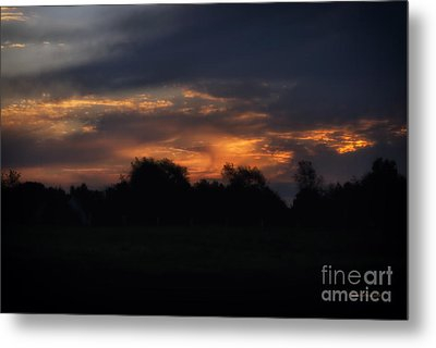 The Crack Of Dawn Metal Print by Thomas Woolworth