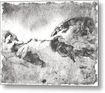 The Creation Of Adam Metal Print by Stefano Senise