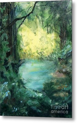 Metal Print featuring the painting The Creek by Mary Lynne Powers