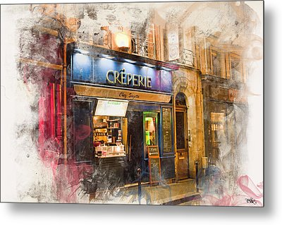 The Creperie Metal Print by Evie Carrier