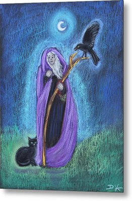 The Crone Metal Print by Diana Haronis