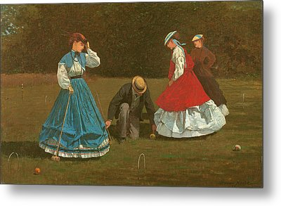 The Croquet Game Metal Print