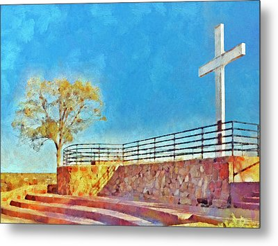 The Cross Of The Martyrs  Sante Fe  New Mexico  Metal Print by Digital Photographic Arts