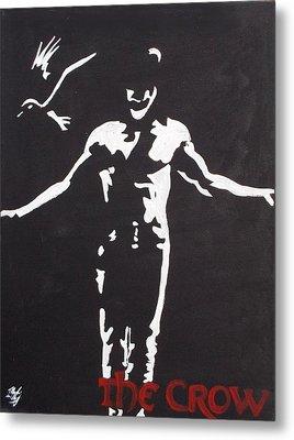The Crow Metal Print by Marisela Mungia