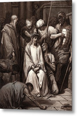 The Crown Of Thorns, By Gustave DorÉ. Dore Metal Print by Litz Collection