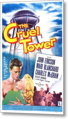 The Cruel Tower, Us Poster, From Left Metal Print by Everett