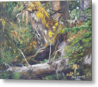 Metal Print featuring the painting The Crying Log by Lori Brackett