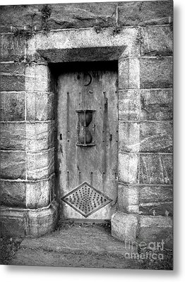The Crypt Door Metal Print by Avis  Noelle