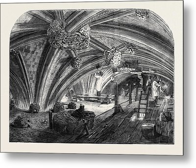 The Crypt Under Old St. Stephens Chapel Westminster Now Metal Print