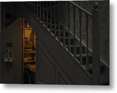 The Cupboard Under The Stairs Metal Print