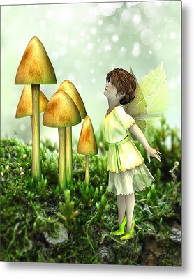 Metal Print featuring the digital art The Curious Fairy by Jayne Wilson