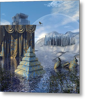The Curtain Falls Metal Print by Diuno Ashlee
