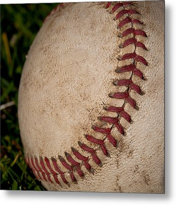 The Curveball Metal Print by David Patterson