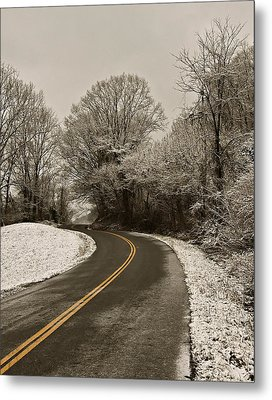 The Curved Road Metal Print