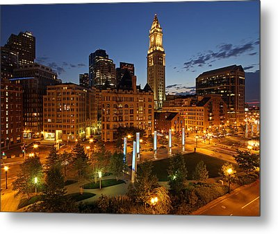 The Custom House Tower In Boston Metal Print by Juergen Roth