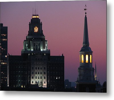 The Customs Building And Christ Church Metal Print by Christopher Woods