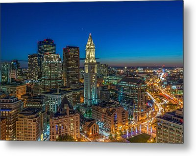 The Customs House Rose Kennedy Greenway And The Zakim Bridge Metal Print