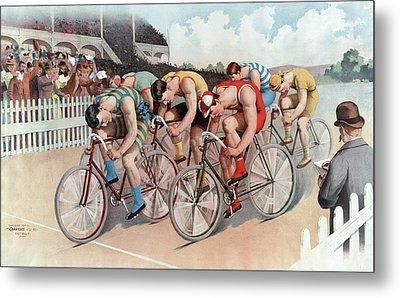 The Cycle Race Metal Print