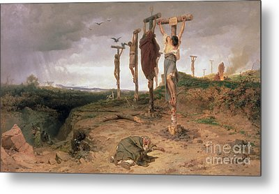 The Damned Field Execution Place In The Roman Empire Metal Print by Fedor Andreevich Bronnikov