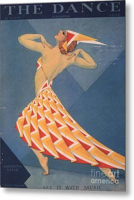 The Dance 1920s Usa Art Deco Magazines Metal Print by The Advertising Archives
