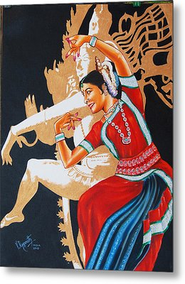 The Dance Divine Of Odissi Metal Print