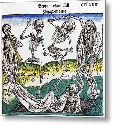 The Dance Of Death Metal Print by Cci Archives