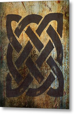 The Dara Celtic Symbol Metal Print by Kandy Hurley