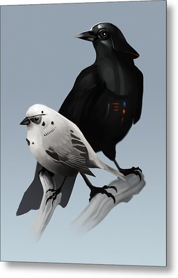Metal Print featuring the painting The Dark Side Of The Flock by Michael Myers