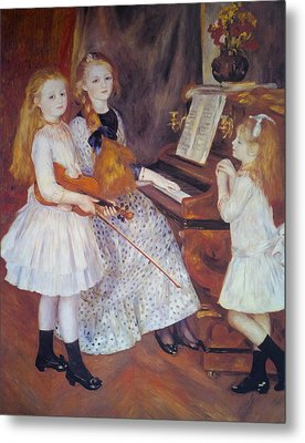 The Daughters Of Catulle Mendes Metal Print by Pierre Auguste Renoir