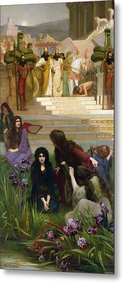 The Daughters Of Judah In Babylon Metal Print by Herbert Gustave Schmalz