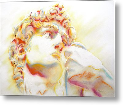The David By Michelangelo. Tribute Metal Print by J- J- Espinoza