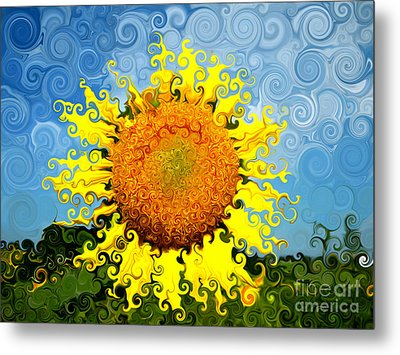The Day Of The Sunflower Metal Print by Lorraine Heath