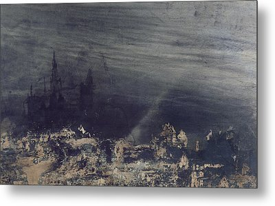 The Dead City Metal Print by Victor Hugo