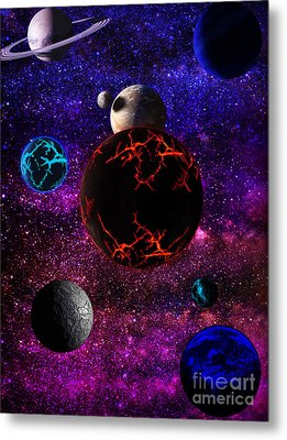 The Dead Solar System  Metal Print by Naomi Burgess