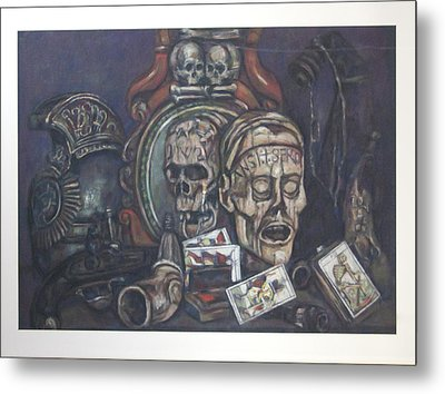 The Death Card Deck Metal Print by Paez  Antonio