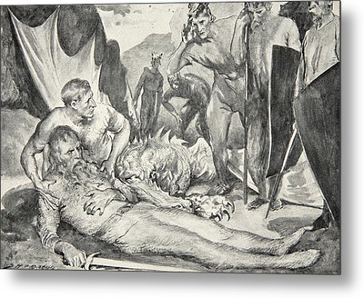 The Death Of Beowulf Metal Print by John Henry Frederick Bacon