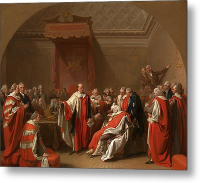 The Death Of Chatham The Death Of The Earl Of Chatham Metal Print