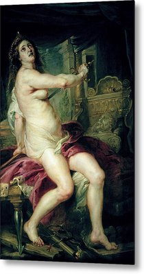The Death Of Dido Metal Print by Rubens