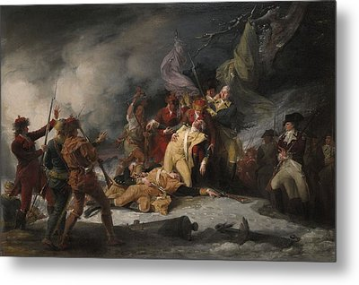 The Death Of General Montgomery In The Attack On Quebec, December 31, 1775, 1786 Oil On Canvas Metal Print by John Trumbull