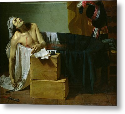 The Death Of Marat Metal Print by Joseph Roques