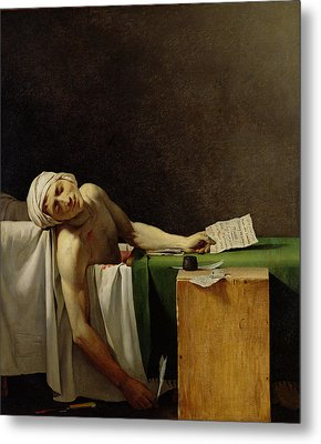 The Death Of Marat, After The Original By Jacques-louis David 1748-1825 Oil On Canvas Metal Print