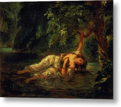 The Death Of Ophelia, 1844 Metal Print