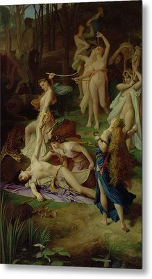 The Death Of Orpheus Metal Print by Emile Levy