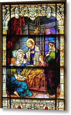 The Death Of St Monica St Augustine Metal Print by Christine Till