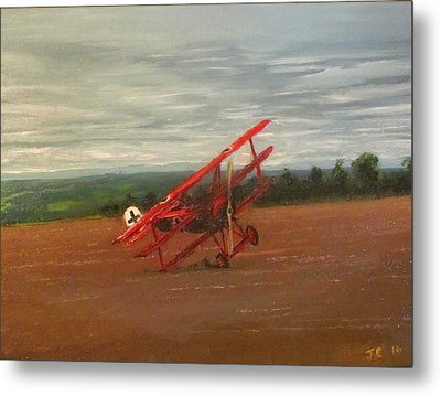 The Death Of The Red Baron Metal Print by Jon Castillo