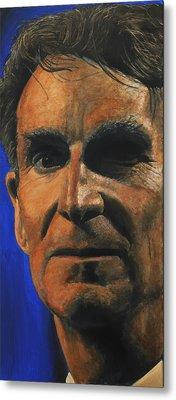 The Debater- Bill Nye  Metal Print by Simon Kregar