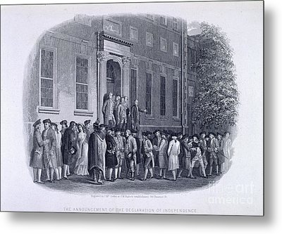 The Declaration Of Independance Metal Print by British Library