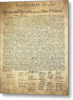 The Declaration Of Independence Metal Print by Daniel Hagerman